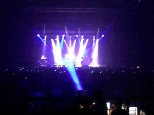 Gli effetti di luce durante il concerto