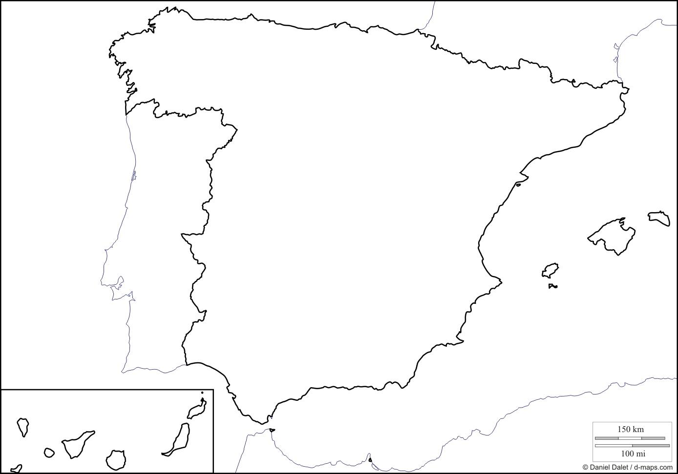 Spagna Cartina Muta Diegocares Blog