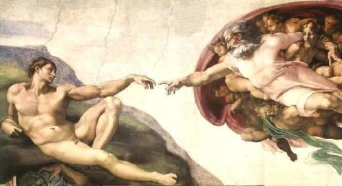 Michelangelo, Creazione di Adamo, affresco del 1511, Cappella Sistina (Musei Vaticani)